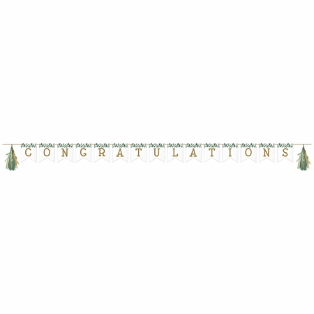 Eucalyptus Banner with Tassel Garland 12 ct