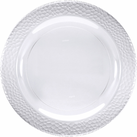 Clear Pebble Plastic Dessert Plates 120 ct