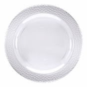 Clear Pebble Plastic Banquet Plates 120 ct