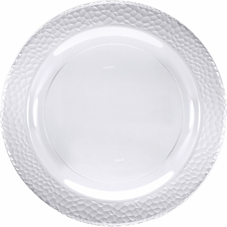 Clear Pebble Plastic Dinner Plates 120 ct