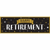 Happy Retirement Banners 6 ct