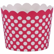 """1.5"""" x 2"""" Red Polka Dot Baking Cups 550 ct"""