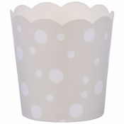 """1.75"""" x 1.5"""" Pearl and White Dots Baking Cups 200 ct"""