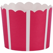 """2"""" x 2.25"""" Red Vertical Stripe Baking Cups 500 ct"""