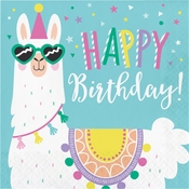 Llama Party Happy Birthday Luncheon Napkins 192 ct