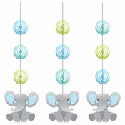 Enchanting Elephants Boy Hanging Cutouts 36 ct