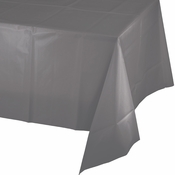 Glamour Gray Plastic Tablecloths 12 ct