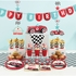 Vintage Race Car Shaped Mylar Balloons 10 ct