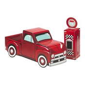 Vintage Red Truck Centerpieces 6 ct