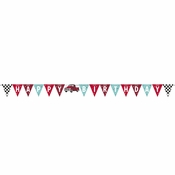 Vintage Red Truck Banners 12 ct