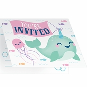 Narwhal Party Invitations 48 ct