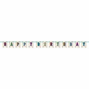 Birthday Burst Banners 12 ct