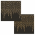 Black and Glittering Gold Foil Dots Beverage Napkins by Elise 288 ct