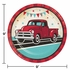 Vintage Red Truck Dinner Plates 96 ct