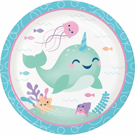 Narwhal Party Dinner Plates 96 ct