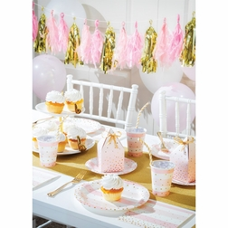 Pink and Gold Celebration Party Supplies