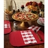 """Red 9.75"""" x 14"""" Decorator Placemat in quantities of 1000 / case"""