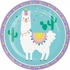 Llama Party Dinner Plates 96 ct