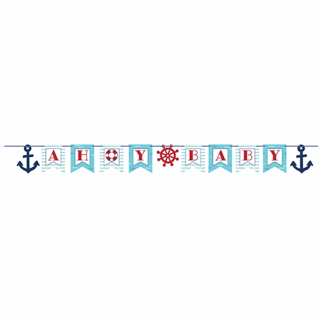 Nautical Baby Shower Banners 12 ct