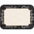 """Black, silver and gold Elegance 15"""" x 20"""" Traymats sold in quantities of 1000 / pkg, 1 pkg / case."""