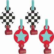 Vintage Race Car Party Blowers 48 ct