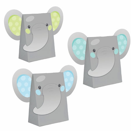 Enchanting Elephants Boy Paper Treat Bags 96 ct