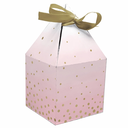 Pink and Gold Celebration Favor Boxes 48 ct