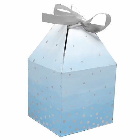 Blue and Silver Celebration Favor Boxes 48 ct
