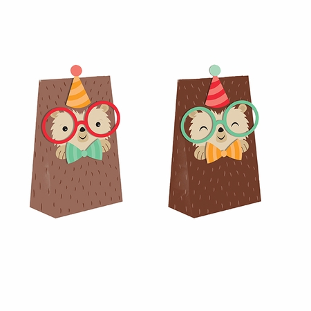 Hedgehog Party Paper Treat Bags 96 ct
