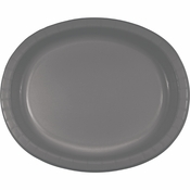 Glamour Gray Oval Plates 96 ct