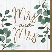 Eucalyptus Mrs. & Mrs. Luncheon Napkins 192 ct