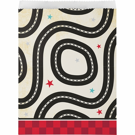 Vintage Race Car Paper Treat Bags 96 ct