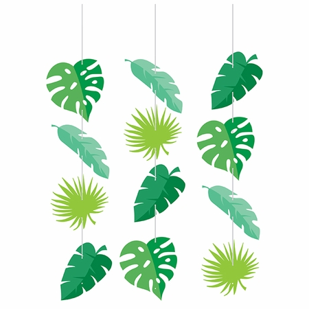 Jungle Leaf Hanging Cutouts 36 ct