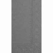 "7.5"" x 4.25"" Regal Embossed Slate Gray Dinner Napkins 1000 ct"