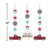 Vintage Red Truck Hanging Cutouts 36 ct