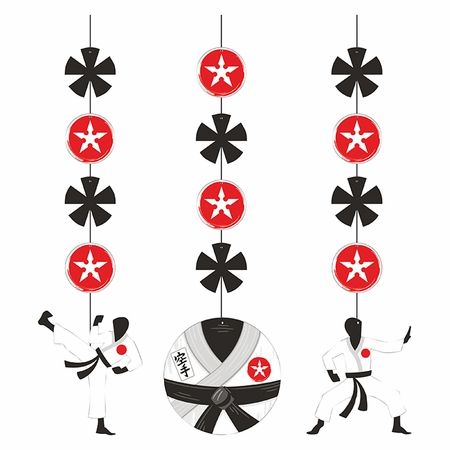 Karate Party Hanging Cutouts 36 ct