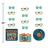 Hipster Birthday Hanging Cutouts 36 ct
