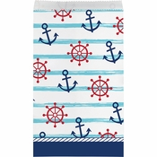 Nautical Baby Shower Paper Treat Bags 96 ct