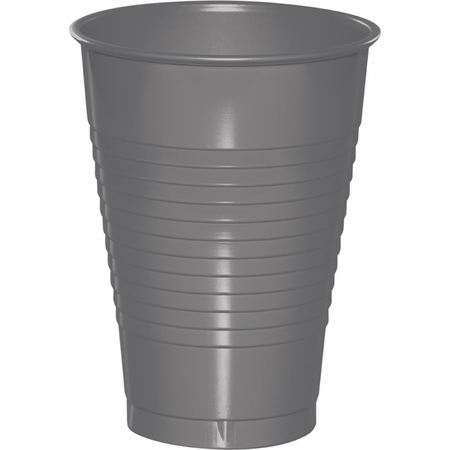 Glamour Gray 12 oz Plastic Cups 240 ct