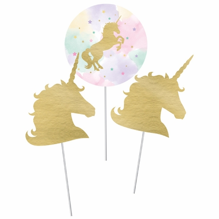 Sparkle Unicorn Centerpiece Sticks 18 ct