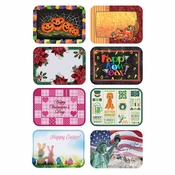 "13.5"" x 18.75"" Seasonal Multipack Paper Placemats 8 Designs Combo Pack 1000 ct"