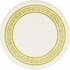 Gold and white Gold Greek Key Coasters sold in quantities of 2500 / pkg, 1 pkg / case.