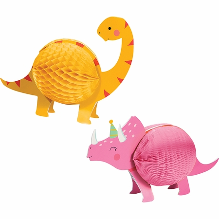 Girl Dinosaur Centerpieces 12 ct