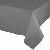 Glamour Gray Paper Tablecloths with Plastic Lining 6 ct