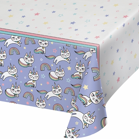 Sassy Caticorn Paper Tablecloths 6 ct