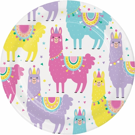 Llama Party Dessert Plates 96 ct