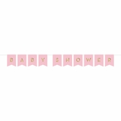 Pink and Gold Celebration Baby Shower Banners 12 ct