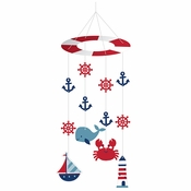 Nautical Baby Shower Hanging Mobiles 6 ct