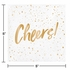 Cheers Gold Foil Beverage Napkins by Elise 288 ct