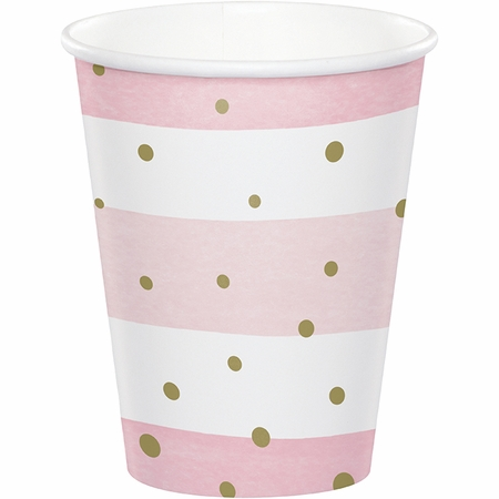 Pink and Gold Celebration Cups 96 ct